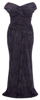 Dorothy Perkins Womens *Quiz Curve Navy Glitter Maxi Dress, Navy