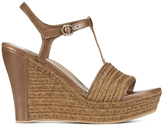 UGG Women's Fitchie T Bar Wedged Sandals Rust