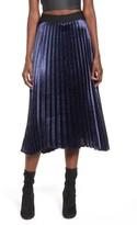 Women's Elodie Pleated Satin Midi Skirt