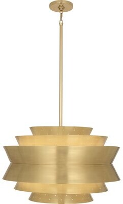 Rob-ert Robert Abbey Pierce 3-Light Single Tiered Pendant Robert Abbey Finish: Modern Brass