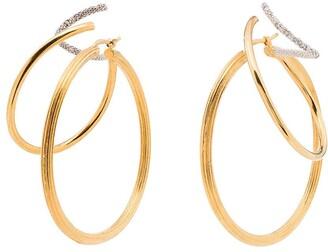 Panconesi Stellar Trinity hoop earrings