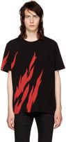 Saint Laurent Black Flame T-shirt