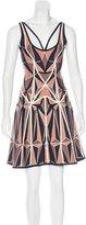 Herve Leger Hazel Geometric Patterned Dress