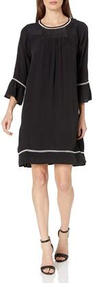 Velvet by Graham & Spencer Women's Pintuck 3/4 Sleeve Dress