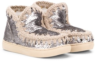 Mou Kids sequin Eskimo sneakers