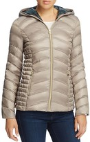 Laundry by Shelli Segal Packable Zip Front Short Down Coat