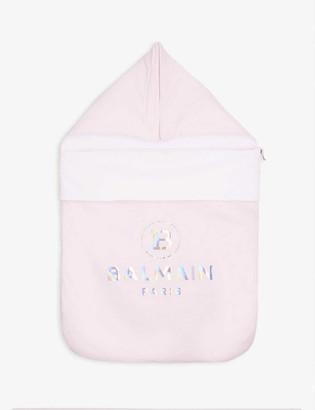 Balmain Logo-print padded cotton nest blanket