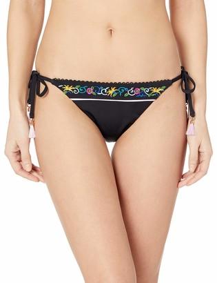 Nanette Lepore Women's Skimpy Side Tie Hipster Bikini Swimsuit Bottom
