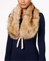 INC International Concepts Faux-Fur and Velvet Bow Stole, Created for Macy's