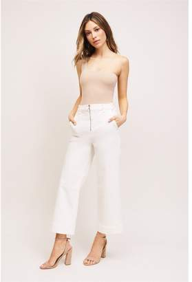 Dynamite Karlie Zip Front Culotte Jeans - FINAL SALE Snow White