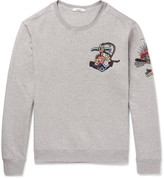 Valentino - Embellished Loopback Cotton-blend Jersey Sweatshirt