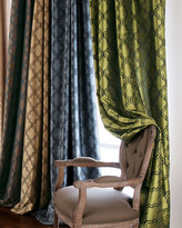 "Horchow Each 96""L Penrose Curtain"