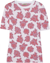 Nina Ricci Floral jersey-jacquard top