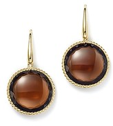 Roberto Coin 18K Yellow Gold Ipanema Round Earrings with Citrine