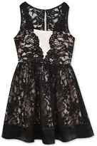 Rare Editions Lace Fit & Flare Dress, Big Girls (7-16)