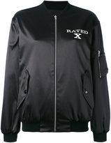 Jeremy Scott X Rated bomber jacket - women - Cotton/Polyester/other fibers - 40