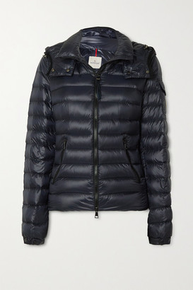 Moncler Hooded Quilted Shell Down Jacket - Navy