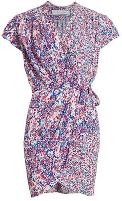 IRO Manza Print Mini Wrap Dress