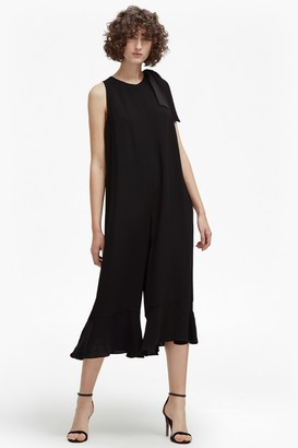 French Connection Hiva Crepe Flared Jumpsuit
