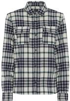 A.P.C. Sur checked cotton-blend shirt