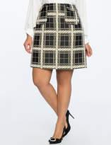 ELOQUII Brocade A-Line Skirt