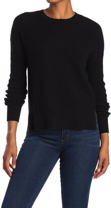 Amicale Cashmere Thermal Stitch Crew Neck Sweater