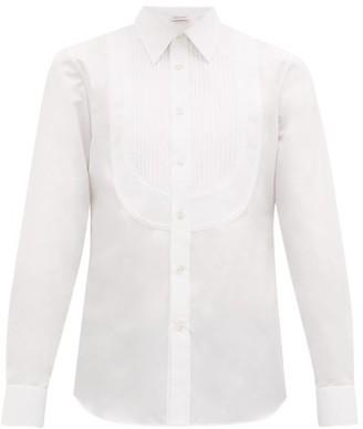 Alexander McQueen Pintuck-bib Cotton Tuxedo Shirt - Mens - White