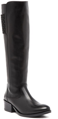 Italian Shoemakers Roby Studded Knee-High Leather Boot