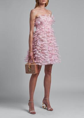 Dolce & Gabbana Feathered Mini Cocktail Dress