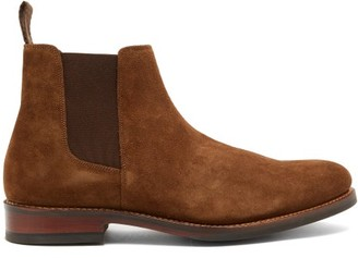Grenson Declan Suede Chelsea Boots - Tan