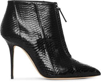 Manolo Blahnik Ifima 90 front zip ankle boots