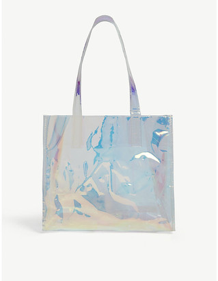 DKNY Kids iridescent PVC tote bag