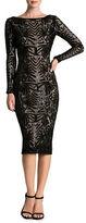 Dress the Population Emery Art Deco Sequin Midi Dress