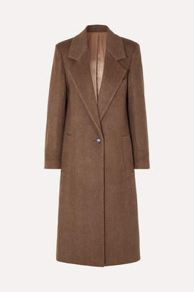 Joseph Captain Herringbone Wool-blend Coat - Brown