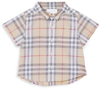 Burberry Baby Boy's Trauls Check Short-Sleeve Shirt