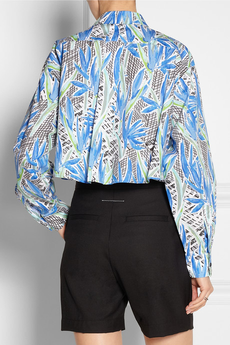 Kenzo Cropped printed cotton shirt