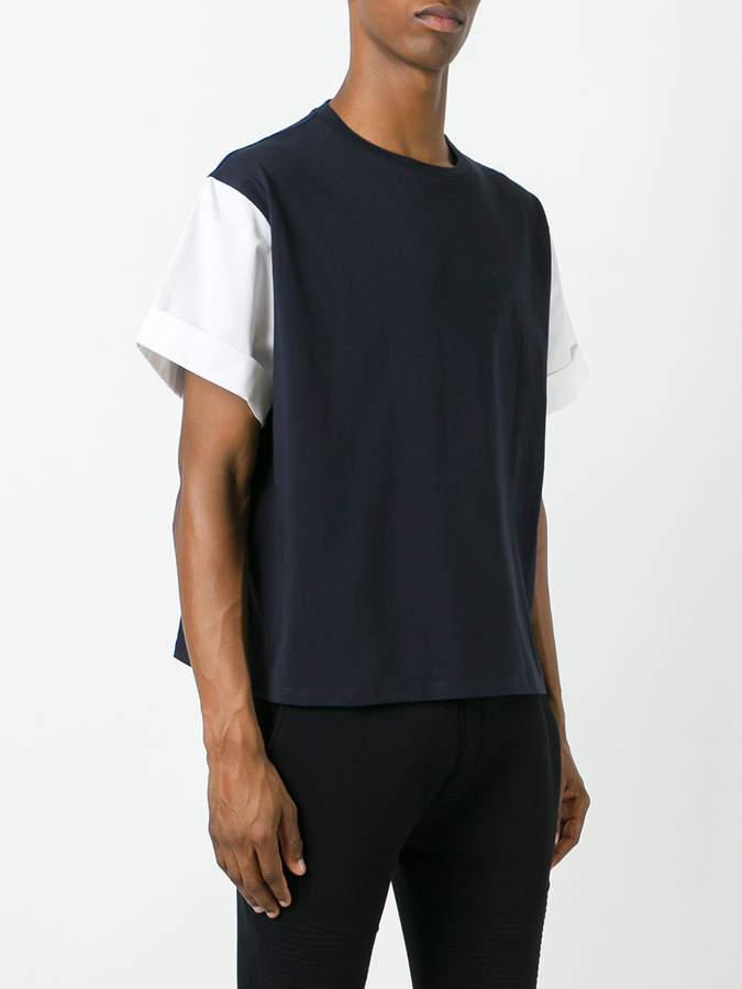 Neil Barrett contrast sleeve T-shirt