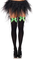 Leg Avenue Women's Opaque Thigh High Hosiery with Satin Bow