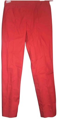 Hermes Red Cotton Trousers for Women