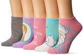 Disney Women's Frozen 5 Pack No Show Socks