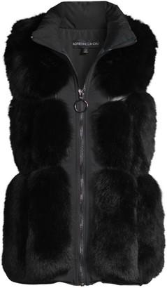Adrienne Landau Fox Fur & Nylon Sectioned Vest