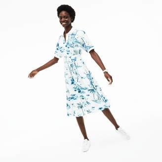 Lacoste Women's Cotton Pique Belted Dress