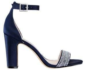 Nina Suzette Embellished Block Heel Sandals