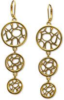 T Tahari Earrings, 14k Gold Plated Essentials Triple Drop Earrings