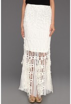 Free People Pieced Lace Maxi Skirt (Ivory) - Apparel