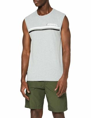 Superdry Men's Core Logo Sport Stripe Vest