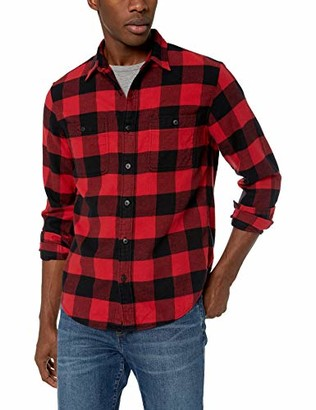 Buffalo David Bitton J.Crew Mercantile Men's Slim-Fit Long-Sleeve Check Flannel Shirt