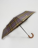 Barbour Telescopic Umbrella In Classic Tartan