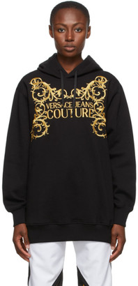 Versace Jeans Couture Black Institutional Logo Hoodie