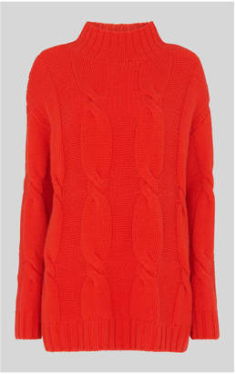 Whistles Cashmere Cable Knit